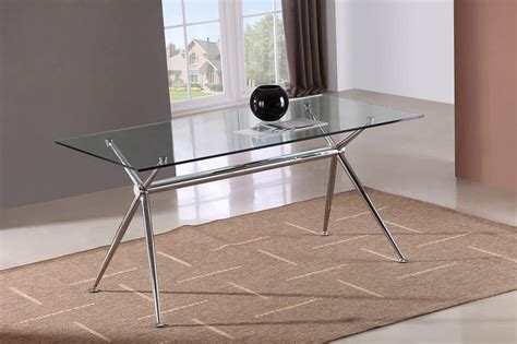 glass topped kitchen tables marengo x base design rectangular dining table with glass
