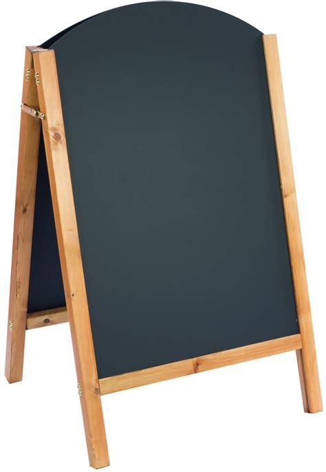 a frame wooden a frame chalkboard