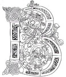 Galerry ornamental alphabet coloring pages