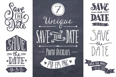 save  date overlays graphics creative market