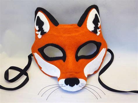 How To Make A Fox Mask Out Of Paper - happenstance wedding felt animal masks