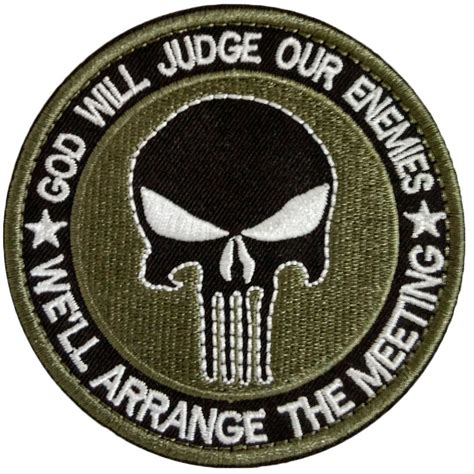 Patch Bordir Emblem Embroidery Patch Logo Bordir Logo Ipsi new punisher skull tactical patch army