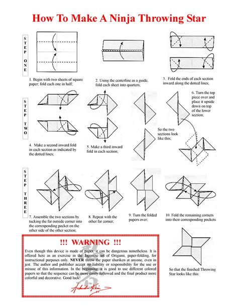 How To Make A Paper Ninga - origami origami shuriken with one sheet of