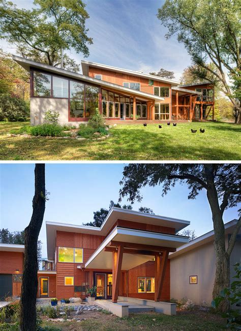16 exles of modern houses with a sloped roof contemporist