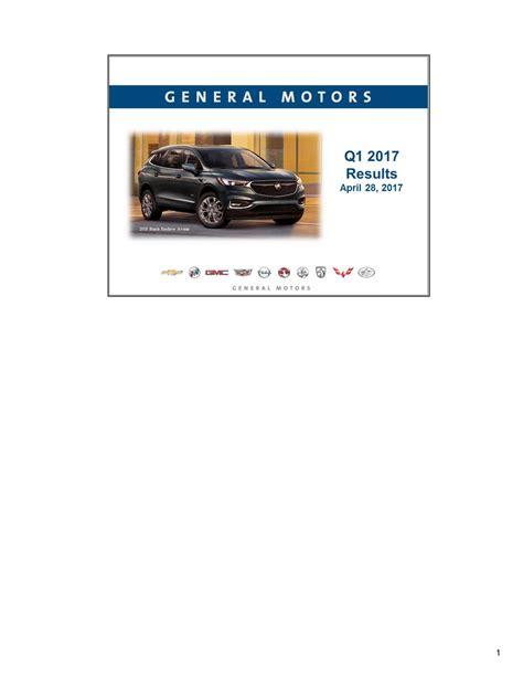 call general motors general motors company 2017 q1 results earnings call