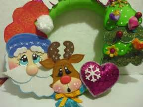 pin moldes corona navidad fieltro foro manualidades