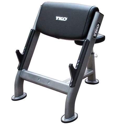 tko weight bench preacher curl bench tko 867pb b