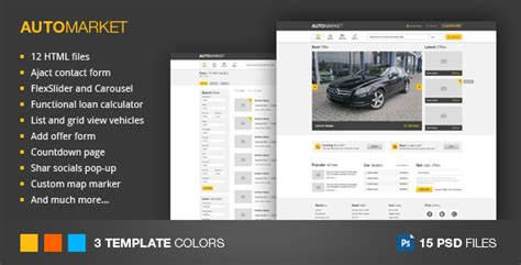 20 Auto Parts Cars Html Website Templates Marketplace Website Template