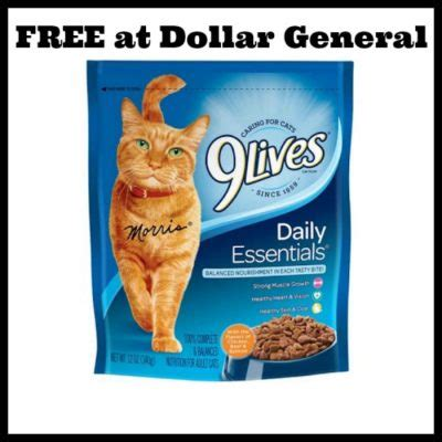 printable 9 lives cat food coupons dollar general free 9 lives cat food deal mama