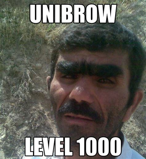 Bushy Eyebrows Meme - eye stache
