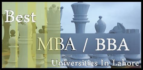 Bba With Mba by Best Universities In Lahore For Mba Bba