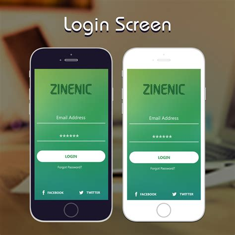 mobile app login mobile app login screen design appui on behance