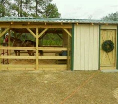 2 horse barn with feed room cheap plans single stall 449 best images about horse barn on pinterest