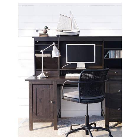 hemnes scrivania hemnes scrivania con modulo aggiuntivo nero e marrone