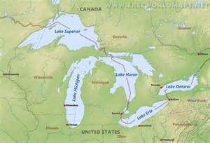 map of us with great lakes labeled great lakes maps