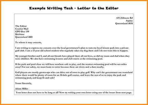 how to write a letter to the editor 6 how to write a letter to the editor format manager resume