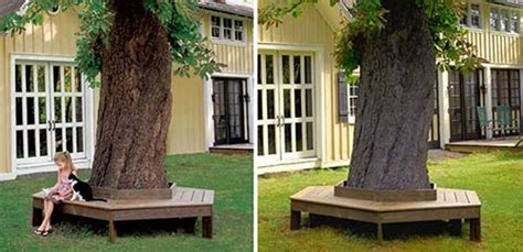 how to build a bench around a tree trunk 20 diy garden projects anyone can make home and gardening ideas
