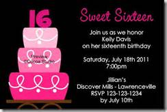 16th birthday invitations templates invitations archives