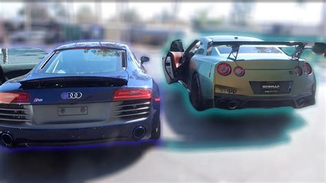 audi r8 tanner audi r8 vs guaczilla rev battle tanner fox vs tanner