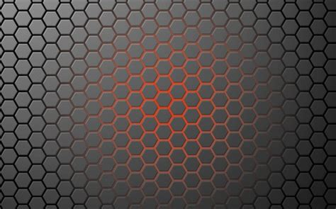 wallpaper abstract hex orange glow hex grid 3d and cg abstract background
