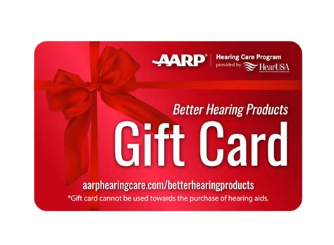 aarp card template gift card aarp hearing care