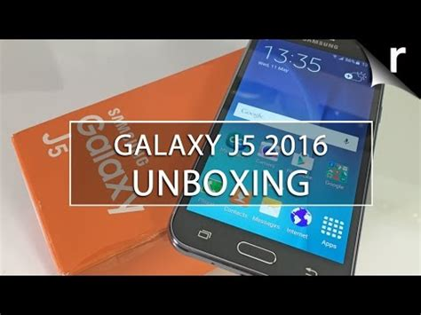 samsung galaxy j5: uk unboxing & hands on review youtube