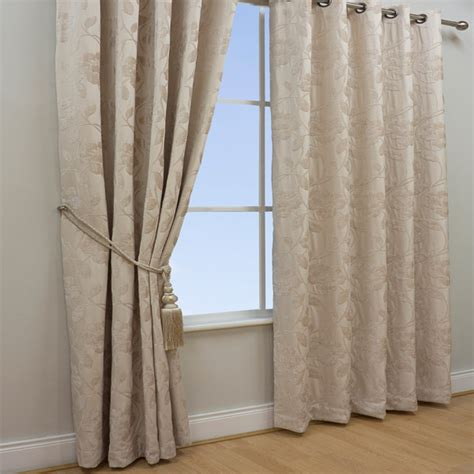 jacquard curtains cream scatter box alicia chenille floral jacquard eyelet lined