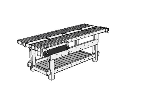 free sketchup woodworking plans 21st century workbench sketchup model popular