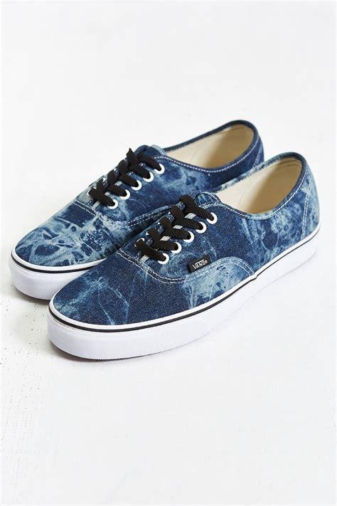 Sepatu Vans Slip Denim 03 vans authentic acid wash sneaker in blue for lyst