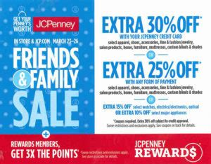 jcpenney friends & family sale – san jacinto mall