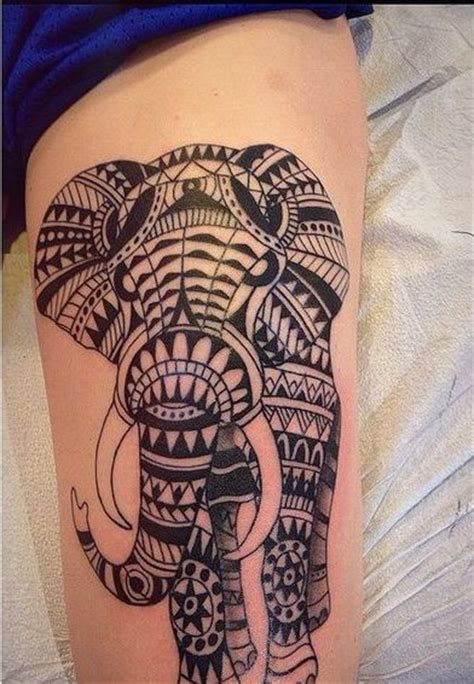 tattoo elephant aztec tribal elephant tattoo 30 aztec elephant designs 2018