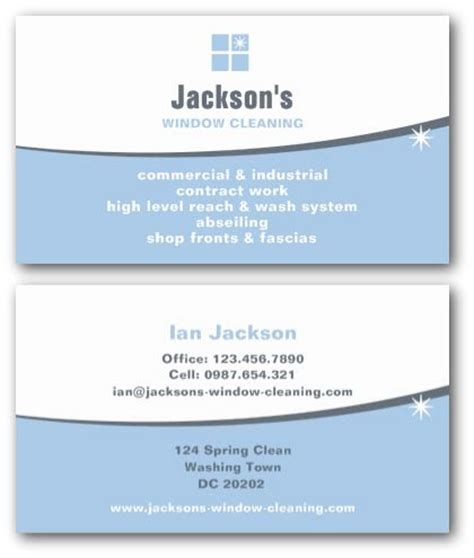 windows business card template cleaning business cards ne14 design