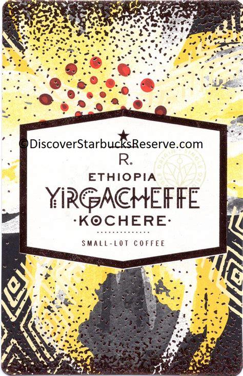 Starbucks Card Indonesia Saldo 0 Black Seattle 2016 Seri Ke 2 yirgacheffe kochere discover starbucks reserve