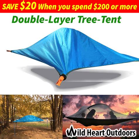 Hammockdouble Layer Water Proof layer tree tent 2 person cing hammock hiking 4 seasons