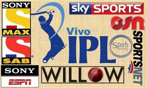 vivo ipl t20 2018 list of all broadcasting tv channels