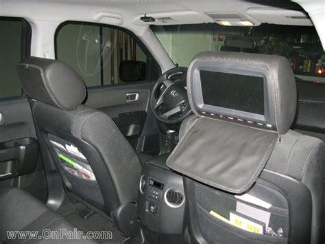 autotain car headrest dvd player installation customer    honda pilot onfair