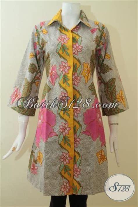 Baju Wanita Keren baju batik dress motif bunga yang berpadu warna paling keren untuk menunjang penilan