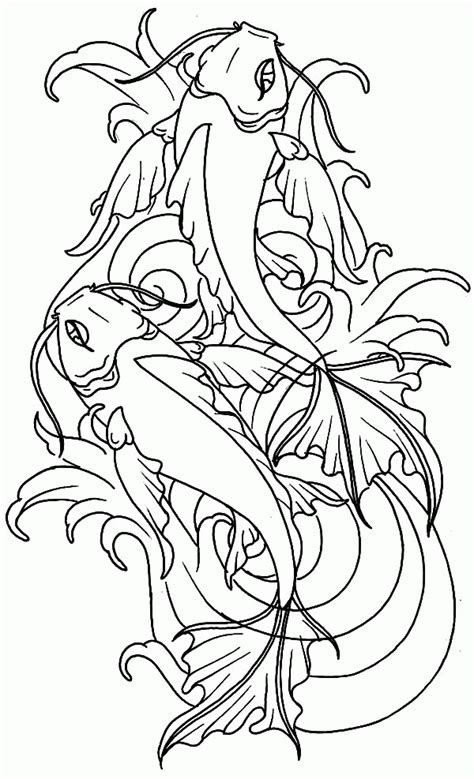 koi fish coloring pages koi fish coloring pages for adults coloring pages