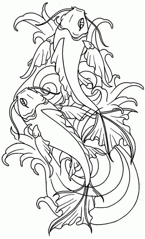 Koi Fish Coloring Pages Coloring Home Koi Fish Coloring Page