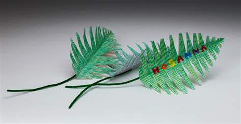 palm sunday craft palms to wave in welcome craft crayola