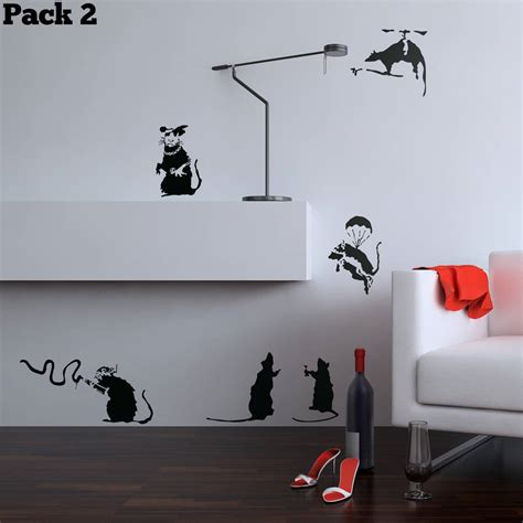 Banksy Wall Stickers Uk banksy rat pack wall stickers by the binary box