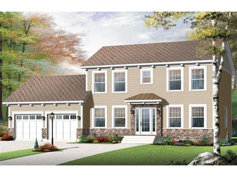 Two Story Colonial | colonial house plans two story colonial home plan 027h