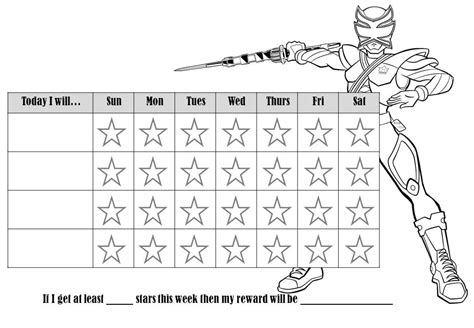 printable reward charts to colour in behavior charts for kindergarten template free pre k