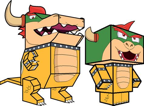 Bowser Papercraft - bowser 3d by zienaxd on deviantart