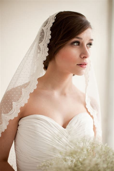 hairstyles with mantilla veil dotted lace veil mantilla veil elbow length veil waist