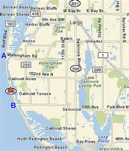 where is indian shores florida on map indian shores rental florida location at barrett
