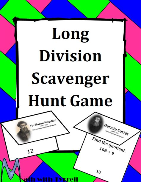 Printable Long Division Games | fun math worksheets for 6th grade lesupercoin printables