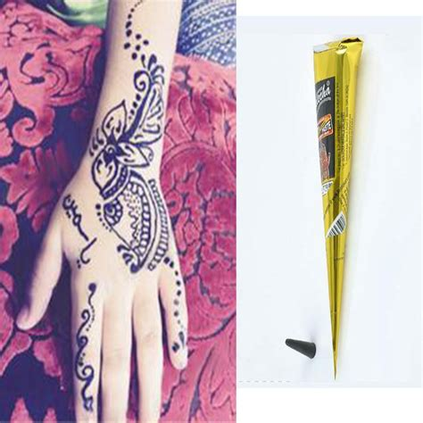 fake tattoo drawing pen natural herbal henna cones temporary tattoo pen kit bride