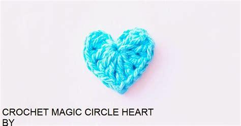 crochet heart pattern magic circle flower girl cottage free chrochet pattern magic circle