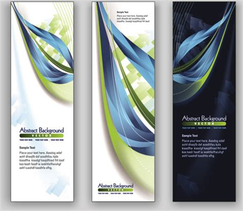 design banner vertical blue style vertical banner vector free vector in